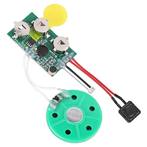 Recordable DIY Voice Module, Greeting Card Chip 60 Seconds Recordable Voice Sound Module for Greeting Card.