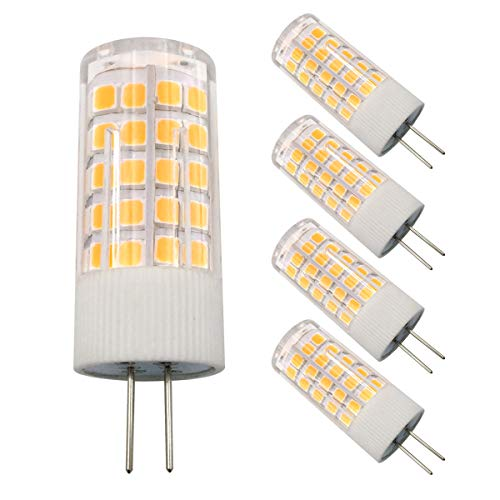 Dimmable G4 LED Bulbs, G4 Bi-Pin Base Bulbs, Spotlight Light Bulb Lamps AC 110V-130V G4 5W 450 Lumen, Warm White 3000K Replace 45W G4 Halogen, for Landscape, Under-Cabinet Lights, Ceiling Lights ()