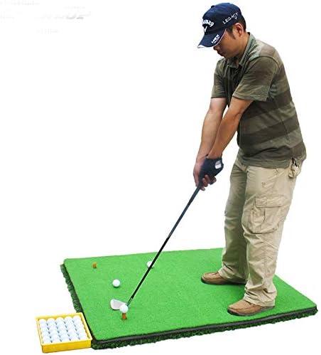 ゴルフマット 3D厚い滑り止めゴルフパッティング練習ポータブルミニゴルフ人工グリーンパターパッドプロフェッショナルグリーングラス (Color : Green, Size : 1.2*3.8M)