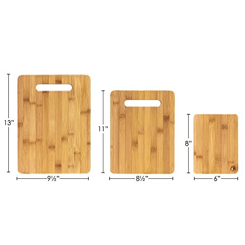 Totally Bamboo 3-Piece Bamboo Serving and Cutting Board Set by Totally Bamboo (Image #1)