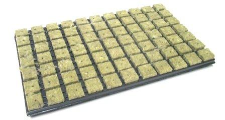 Grodan Rockwool Transplanting Propagation Mat 77ER Tray 3.6x 3.6cm