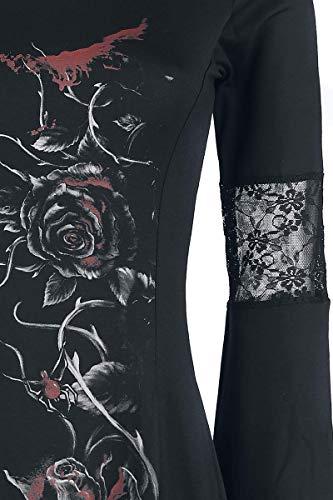 Rose Noir England Alchemy Bleeding Robe Mi longue g0qAHW