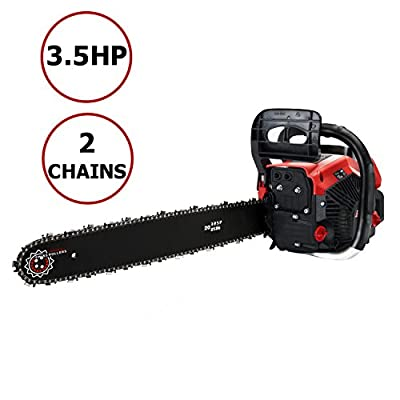 Meditool 62CC Gas Powered Chainsaw 20 inch, Petrol Chainsaw
