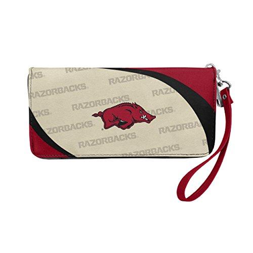 Credit Card Razorbacks Arkansas - NCAA Arkansas Razorbacks Curve Zip Organizer Wallet