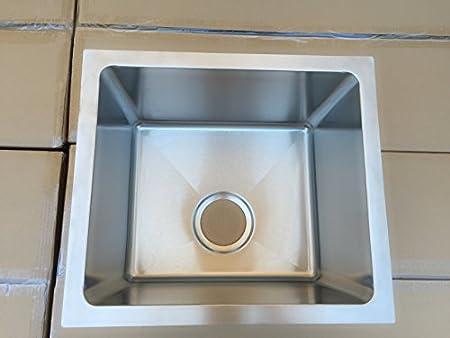 Starstar GPDS16-R10 Single Bowl Kitchen/bar Sink Undermount, 16 Gauge