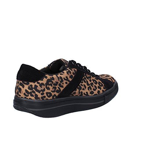 MBT Sneakers Damen 38 EU Schwarz Braun Textil Wildleder