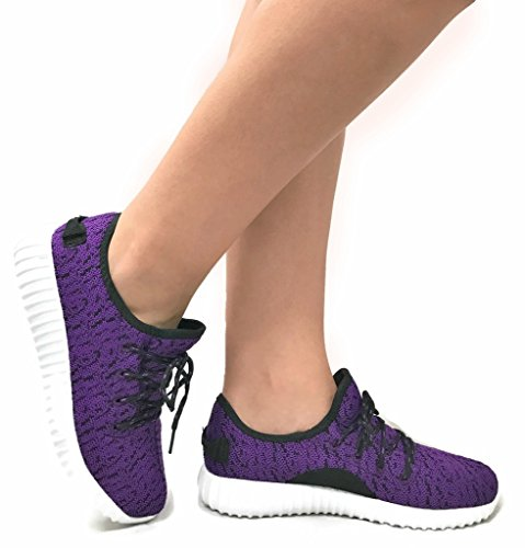 Shoes Breathable Purple Jill Casual Athletic Mesh Womens Fashion Sneakers Collection The qSOAIw1