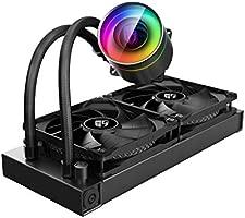 DEEP COOL Castle 240EX, Refrigeración Líquida RGB Direccionable para CPU, con Tecnología Anti-Fugas,Controlador de Cable y/o Control de Placa Base con ...