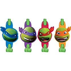 8 Count Teenage Mutant Ninja Turtles Blowouts, Multicolored