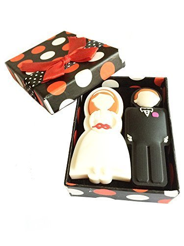 FEBNISCTE A Pair Wedding Gifts 16GB USB 2.0 Flash Memory Stick with Gift Package