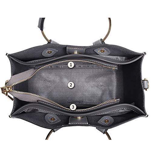 Xuanbao Bags Las Color Hombro Almacenamiento de Simple de Totes Mujer seoras de Bag de Bolso Crossbody Bolso de Bolso Hombro Shoulder Hombro Femenino Negro Cuero Hobo de Gris Femenino 4F4IOxqr