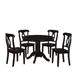Dorel Living 5-Piece Aubrey Traditional Pedestal Height Dining Set
