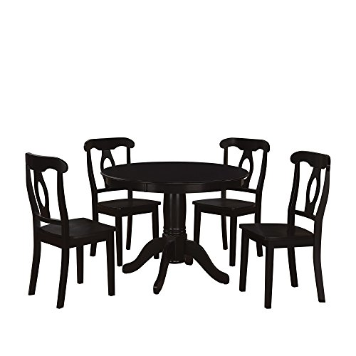 Room Dining Table Game Set (Aubrey 5 piece Traditional Height Pedestal Dining Set)