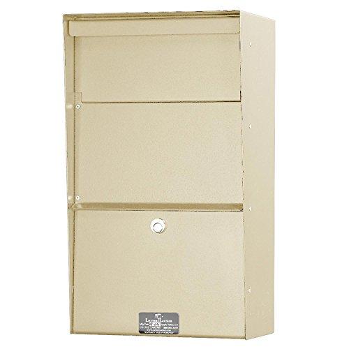 Jayco LLAVW Wall Mount Vertical Aluminum Letter Locker Mailbox Tan