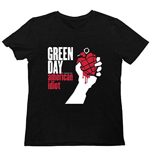 Men's American Idiot Green Day Homecoming T Shirts Black S