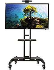 """Boost Industries AVC3265ii Universal Multi-Functional Mobile TV Cart Stand for 32"""" to 65"""" TVs - Supports up to 100lbs"""