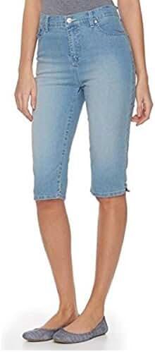 Gloria Vanderbilt Women's Amanda Twill Skimmer Capri Short with Plain Pocket