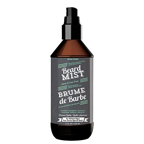 Price comparison product image Man Code Peppermint Beard Mist with Organic Mint and Tea Tree - Conditions,  Strengthens,  Refreshes Premium Quality Beard Styling Spray for all Beard Types 4oz / 120ml