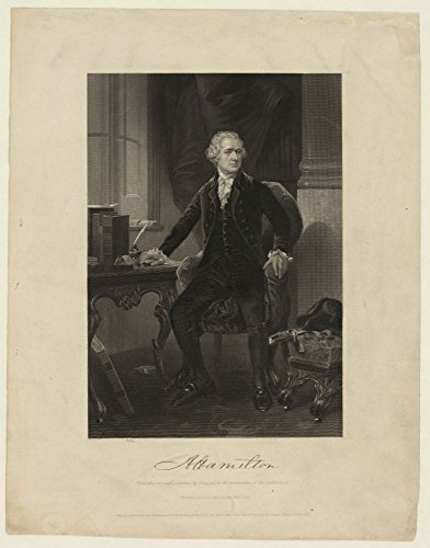 1861 Photo A Hamilton from the original painting by Chappel, in the possession of the publishers Alexander Hamilton, half full.