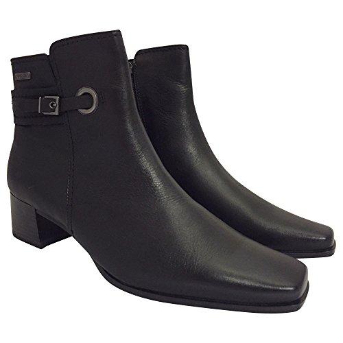 Tamaris - Botas de cuero sintético para mujer Negro - negro