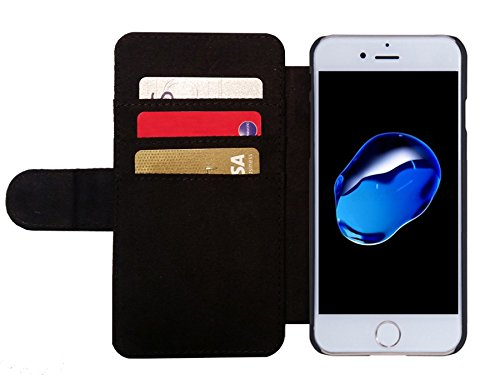 Leder Flip Case Tasche Hülle für Apple Iphone 7 / Iphone 8 - Karate-Kämpfer by GiordanoAita