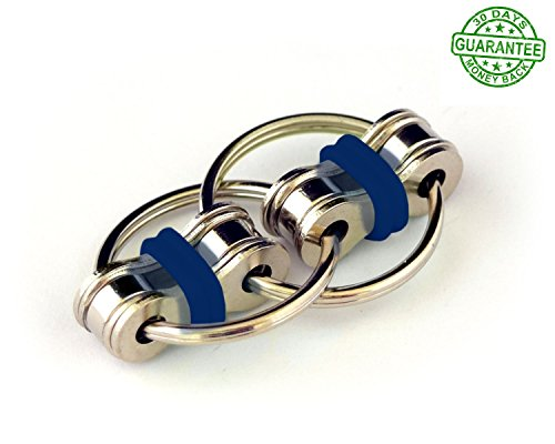 Fidget Toy for Adults| Fidget Toys For Adhd| Flippy Chain | Stress/Anxiety Reducer |Ideal for Antsy hands ADD , ADHD, Autism Adult and Sensory Kids/Children (Blue)