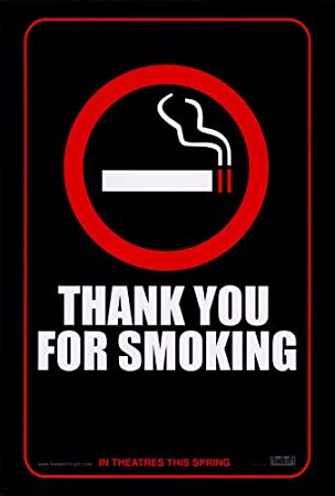 amazon thank you for smoking 映画ポスター 27 x 40 punt dog
