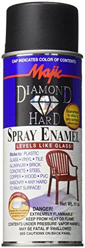 Majic Paints Diamond Hard Acrylic Enamel Satin Paint, Aerosol, 11-Ounce, Satin Black