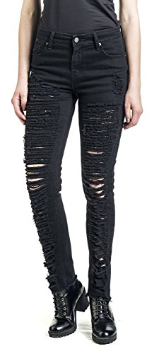 Jeans Victim Mujer Vaqueros Fashion Negro Destroyed Negro qfAdxdOEw