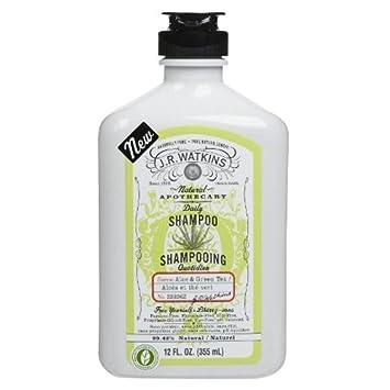 J.R. Watkins Shampoo, Aloe and Green Tea, 12 Fluid Ounce