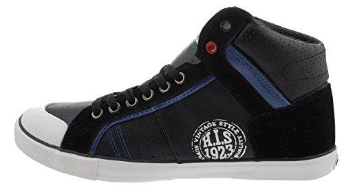 H.I.S H131-002 High-Top Sneaker schwarz Schwarz