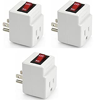 Triple Plug Outlet Adapter with On/Off Switch - - Amazon.com