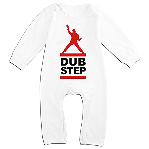 OLGB Newborn Dubstep Dub Step Music Dj Bass Long Sleeve Romper Bodysuit 18 Months