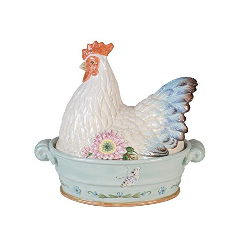 Fitz and Floyd 20-591 Toulouse Ceramic Hen Covered Vegetable ()