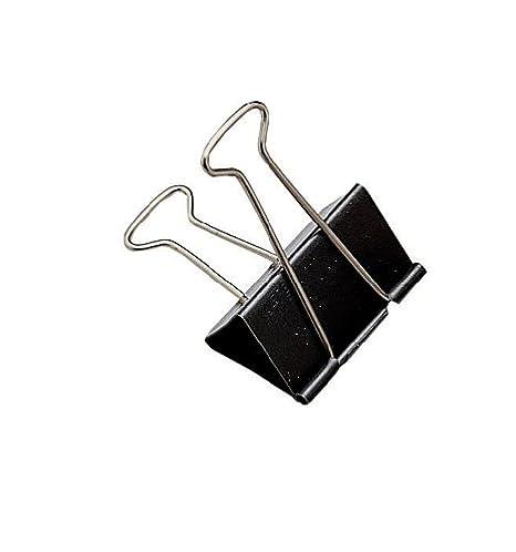 IXL Clipper Foldback - Paquete de 100 pinzas para carpetas, negro: Amazon.es: Oficina y papelería