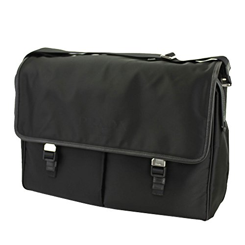 Tessuto Black Messenger Bag - Prada Men's Black Nylon Messenger Bag 2VD165 Cross body bag