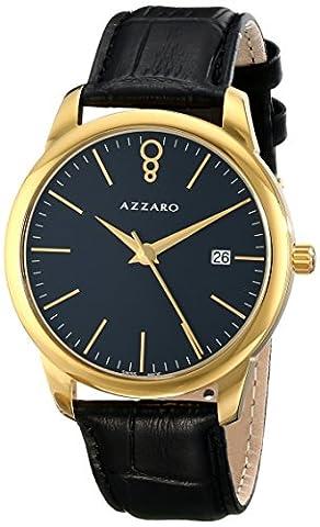 Azzaro Men's AZ2040.62BB.000 Legend Analog Display Swiss Quartz Black Watch (Azzaro Men Quartz)