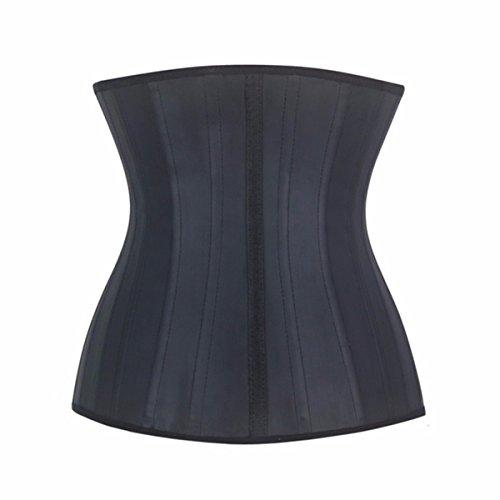 Yall señoras ropa interior 25 Corset Corset negro esqueleto de acero Black