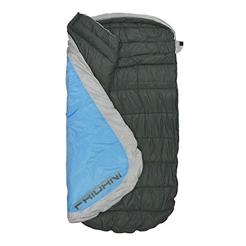 Fridani PB 220S XXL Camping Saco de Dormir de hasta 18 °C Outdoor - Saco de Dormir (220 x 110 cm, eiförmiger cabaña Saco de Dormir con 2400 g para 3/4 ...