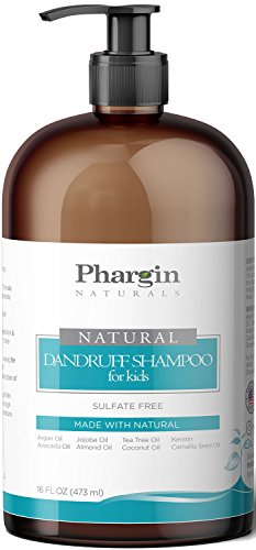 Sulfate Free Anti-Dandruff Shampoo for Kids. Best Kids Natural Sulfate Free Shampoo with Argan,Tea-Tree,Jojoba,Avocado,Coconut,Almond,Camellia-seed Oil. Kids Sulfate Free Dandruff Shampoo. (16 Oz) (Natural Coconut Shampoo The)