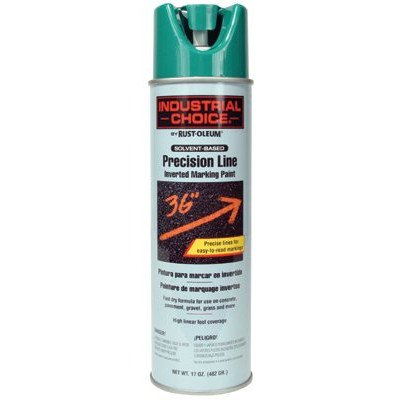 (Industrial Choice M1600/M1800 System Precision-Line Safety Green Inverted Marking Paint [Set of)