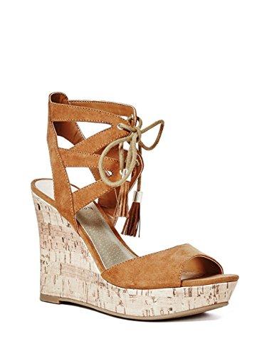 G By Guess Estes Donna Camoscio sintetico Sandalo con la Zeppa