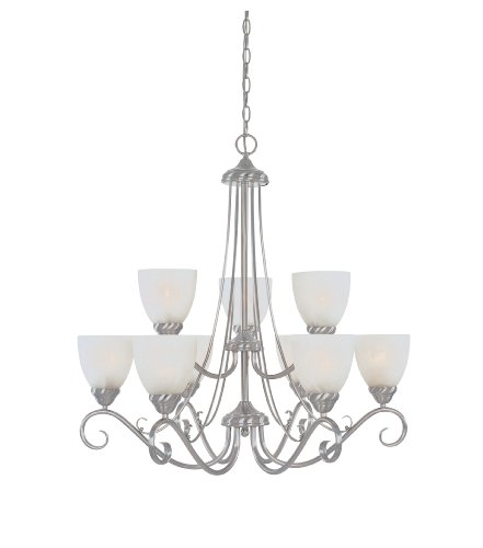 (Designers Fountain 98089-SP Chandelier Satin Platinum)