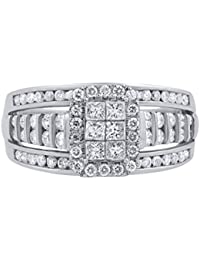 14K Gold 1.00 Carat Natural Diamond Ring (G-H Color, I1-I2 Clarity) Brilliant Diamond Ring for Women Diamond Jewelry Gifts for Women