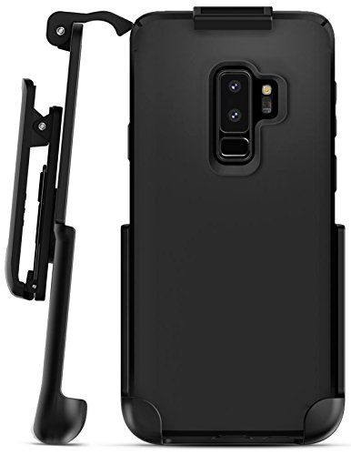Encased Belt Clip Holster compatible with Spigen Thin Fit Case - Galaxy S9 Plus (case not included) (Black)