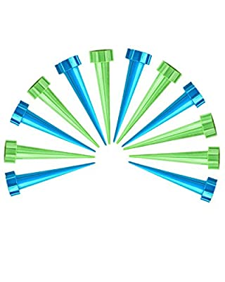 Amersumer 12 Pcs Automatic Irrigation Watering Device?Garden Cone Watering?Spikes Waterers Bottle Irrigation System