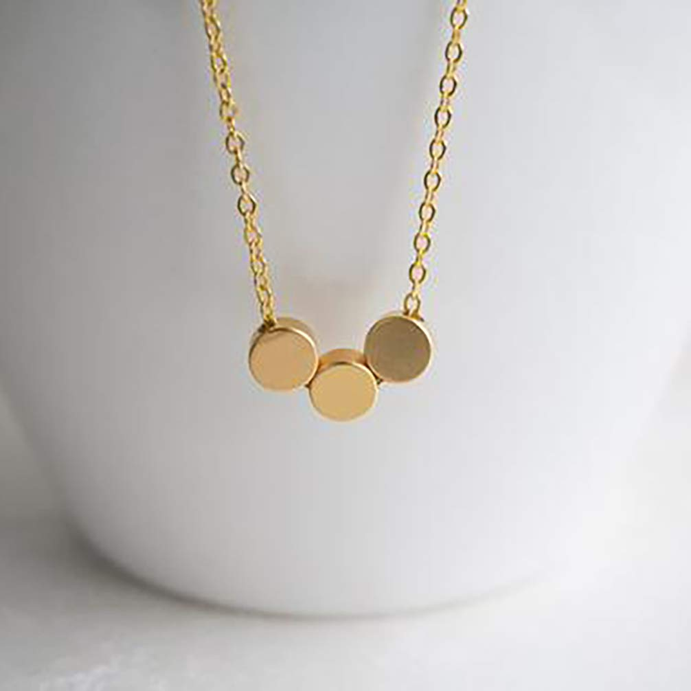Suecy Gold Tiny Cross Necklace 18K Gold Plated Dainty Faith Heart Moon Dot Star Handmade Necklace for Women