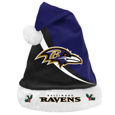 NFL - Forever Collectibles Swoop Logo Santa Hat, Baltimore -
