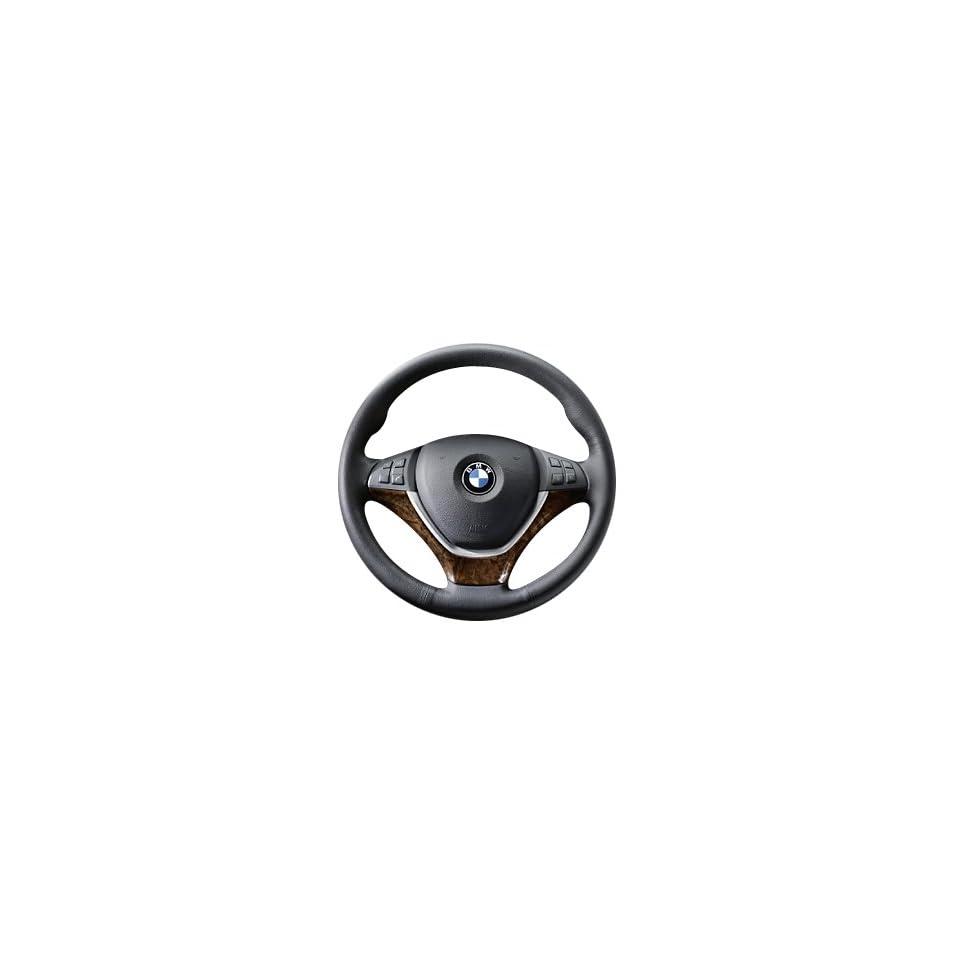 BMW 32 30 0 413 681 Wood Steering Wheel Cover   Burr Walnut Dark Automotive