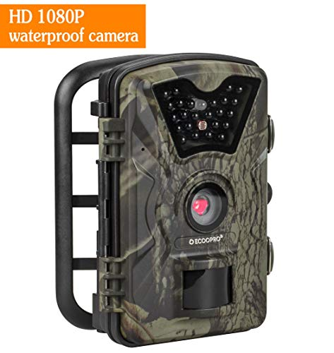 ECOOPRO Trail Camera 12MP 1080P HD Game Hunting Camera 65ft Infrared Night Vision,90°Detection...
